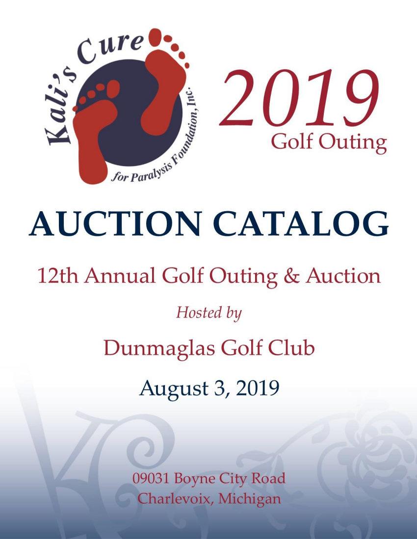 2019 Golf Outing and Auction : Kalis's Cure